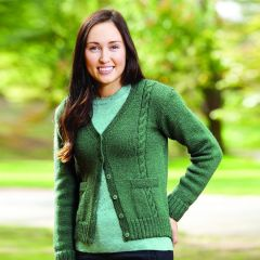 PT 8442 - Classic Cabled Cardigan in two lengths PDF