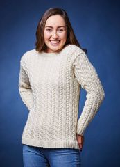 PT 8497 - Cabled Pullover PDF