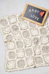 PT 8537 - Crochet Cotton Baby Blanket