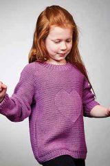 PT 8538 - 10 Ply Kids Cotton Heart Jumper