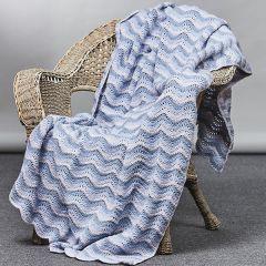PT 8543 - Knit & Crochet Wave Blanket