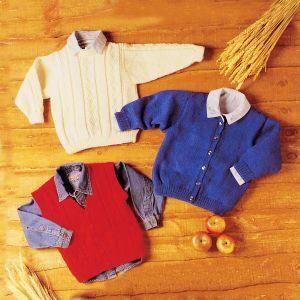 PT 8126 - Babies Sweater, Cardigan and Waistcoat PDF
