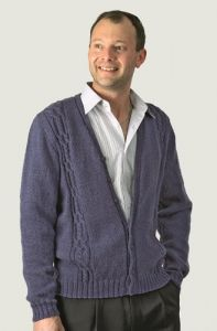 PT8292 - Men's Cabled V-Neck Cardigan PDF