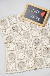 PT8537 - Crochet Cotton Baby Blanket
