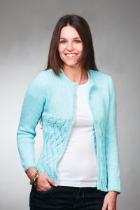 PT8566 8 Ply Cotton Cardigan