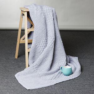 PT 8574 - Easy Patchwork Knit Throw PDF