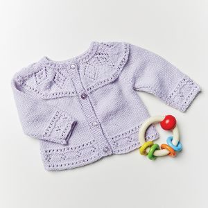 PT8580 - Babies Diamond Lace Cardigan