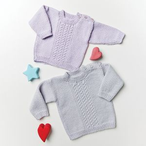 PT8583 - Babies Neck Button Cabled Jumper