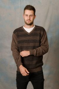 Style BA Men's V Neck Jumper
