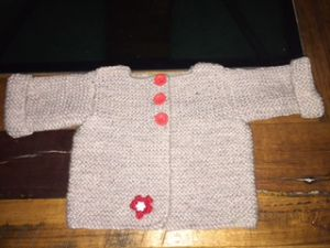 Baby Cardigan with Flower PDF