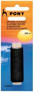 Knitting in Elastic - Black