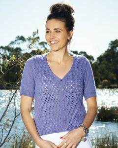 PT 8325 - Short Sleeve Cotton Lace Cardigan PDF