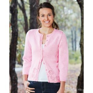 PT8372 - Cardigan with Catherine Wheel Detail