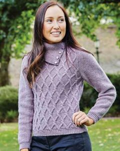 PT8407 - Ladies Lattice Cabled Jumper
