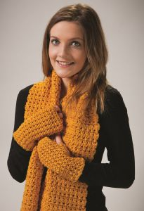 PT8516 - Criss Cross Scarf/Wrap & Mitts PDF