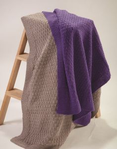 PT8517 - Slip Stitch Blanket in 5, 8 & 12 Ply